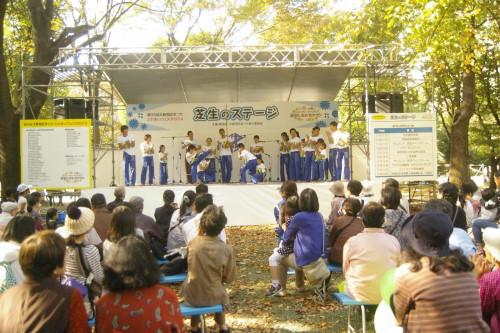 新宿区のイベントで戸山公園カポエイラパフォーマンス